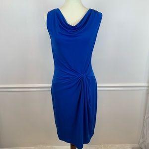 Michael Kors elegant vibrant blue mid length dress